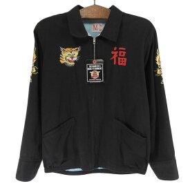 The REAL McCOY'S ザ・リアルマッコイズ ベトナム ジャケット 刺繍 メンズ 黒 M 【中古】