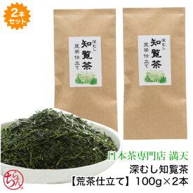 深むし知覧茶【荒茶仕立て】2本セット 100g×2メール便送料無料 鹿児島茶 かごしま茶 ちらん茶 日本茶 緑茶 茶葉 新茶 2020年度産 japantea chiran SSS
