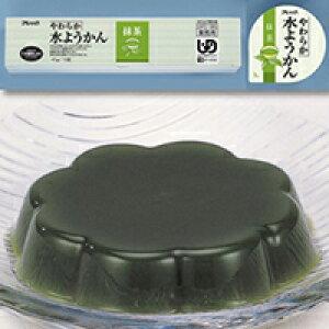 【冷凍】やわらか水ようかん(抹茶) 40G 10食入 (フレック/和風デザート)