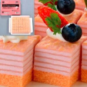 【冷凍】ミニカットケーキ ミルクレープ(いちご) 約490G (フレック/冷凍ケーキ/ポーションケーキ)
