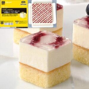 【冷凍】カット済ケーキレアーチーズ(北海道産クリームチーズ使用) 382G (フレック/冷凍ケーキ/ポーションケーキ)