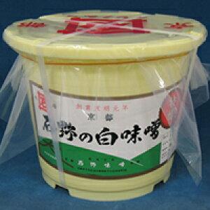 【常温】特醸白味噌漉(樽) 4KG (石野味噌/味噌/大容量タイプ)