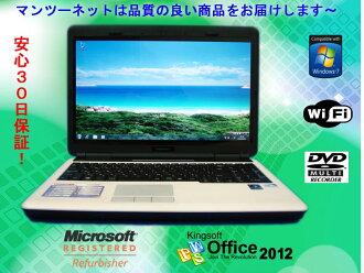 內置/DVD多開車兜風/Windows7 Home Premium SP1/恢復CD、OFFICE2013有中古的中古的筆記型電腦FRONTIER FRNP304 Intel Celeron T1600 1.66GHz/2GB/HDD 320GB/無線電