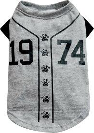 【 大型犬用 】 犬 服 夏 夏服 可愛い かわいい タンク Tシャツ グレー 大型犬 ユニフォーム ドッグウェア ドックウェア 黒 DoggyDolly BD537 野球 球技 ビッグ スポーツ 遊ぶ ラブラドール シェパード ダルメシアン ボクサー 犬服