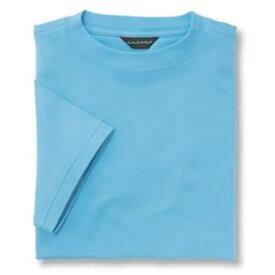 Tシャツ(Men's & Ladies) 抗菌防臭加工 10色 [サックス]M〜5Lサイズ