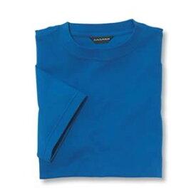 Tシャツ(Men's & Ladies) 抗菌防臭加工 10色 [ブルー]M〜5Lサイズ
