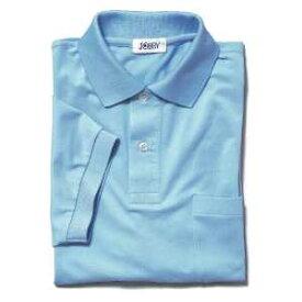半袖ポロシャツ(Men's & Ladies)7色[サックス]M〜5Lサイズ