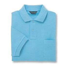 半袖ポロシャツ(Men's & Ladies) 10色 抗菌防臭加工[サックス]M〜5Lサイズ