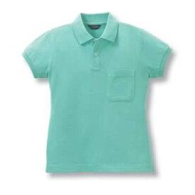 半袖レディースポロシャツ(チビ袖)10色 抗菌防臭加工[ミントグリーン]7号〜13号サイズ