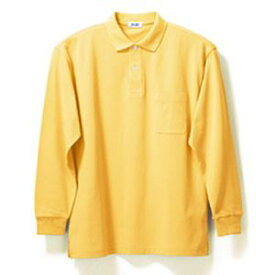 長袖ポロシャツ(Men's & Ladies)7色[イエロー]M〜5Lサイズ