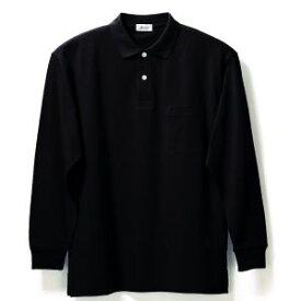 長袖ポロシャツ(Men's & Ladies)7色[ブラック]M〜5Lサイズ