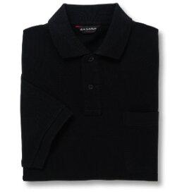 半袖ポロシャツ(Men's & Ladies)[ポケット無し]抗菌防臭加工 10色 [ブラック]M〜5Lサイズ