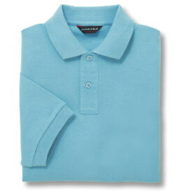 半袖ポロシャツ(Men's & Ladies)[ポケット無し]抗菌防臭加工 10色 [サックス]M〜5Lサイズ