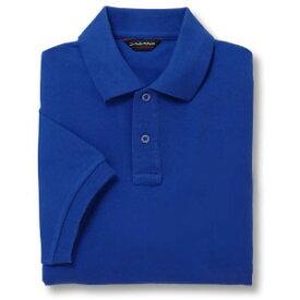 半袖ポロシャツ(Men's & Ladies)[ポケット無し]抗菌防臭加工 10色 [ブルー]M〜5Lサイズ