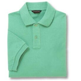 半袖ポロシャツ(Men's & Ladies)[ポケット無し]抗菌防臭加工 10色 [ミントグリーン]M〜5Lサイズ
