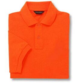 半袖ポロシャツ(Men's & Ladies)[ポケット無し]抗菌防臭加工 10色 [オレンジ]M〜5Lサイズ