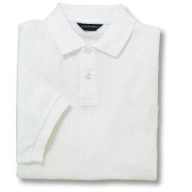 半袖ポロシャツ(Men's & Ladies)[ポケット無し]抗菌防臭加工 10色 [ホワイト]M〜5Lサイズ