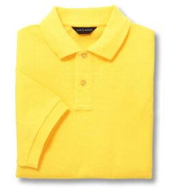 半袖ポロシャツ(Men's & Ladies)[ポケット無し]抗菌防臭加工 10色 [イエロー]M〜5Lサイズ