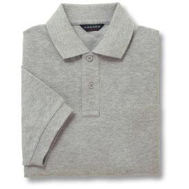 半袖ポロシャツ(Men's & Ladies)[ポケット無し]抗菌防臭加工 10色 [杢グレー]M〜5Lサイズ