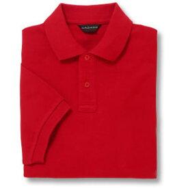 半袖ポロシャツ(Men's & Ladies)[ポケット無し]抗菌防臭加工 10色 [レッド]M〜5Lサイズ