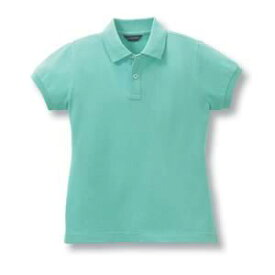 半袖レディースポロシャツ(チビ袖・ポケット無し)10色 抗菌防臭加工[ミントグリーン]7号〜13号サイズ