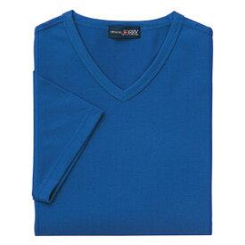 クイックドライVネックシャツ(MEN'S&LADIES)[ブルー]M〜4Lサイズ