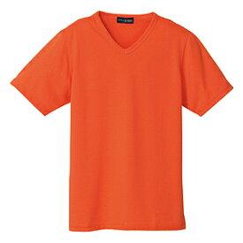クイックドライVネックシャツ(MEN'S&LADIES)[オレンジ]M〜4Lサイズ
