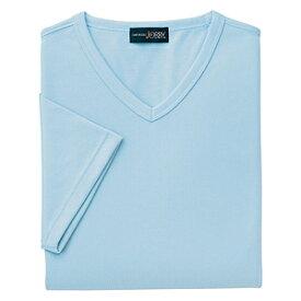 クイックドライVネックシャツ(MEN'S&LADIES)[サックス]M〜4Lサイズ