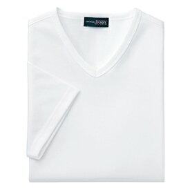 クイックドライVネックシャツ(MEN'S&LADIES)[ホワイト]M〜4Lサイズ