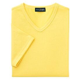 クイックドライVネックシャツ(MEN'S&LADIES)[イエロー]M〜4Lサイズ