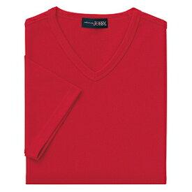 クイックドライVネックシャツ(MEN'S&LADIES)[レッド]M〜4Lサイズ
