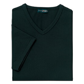 クイックドライVネックシャツ(MEN'S&LADIES)[ブラック]M〜4Lサイズ