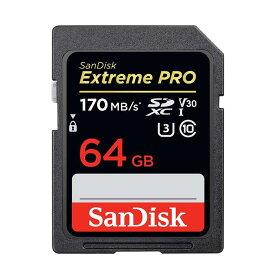 《新品アクセサリー》 SanDisk (サンディスク) ExtremePRO SDXCカード UHS-I 64GB SDSDXXY-064G-GN4IN 海外パッケージ版 【KK9N0D18P】