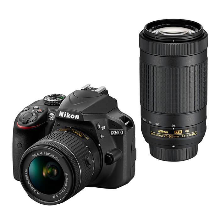 《新品》 Nikon(ニコン) D3400 ダブルズームキット ブラック[ デジタル一眼レフカメラ | デジタル一眼カメラ | デジタルカメラ ]【KK9N0D18P】