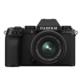 《新品》FUJIFILM (フジフイルム) X-S10 XC15-45mmレンズキット ブラック [ ミラーレス一眼カメラ   デジタル一眼カメラ   デジタルカメラ ] 【KK9N0D18P】