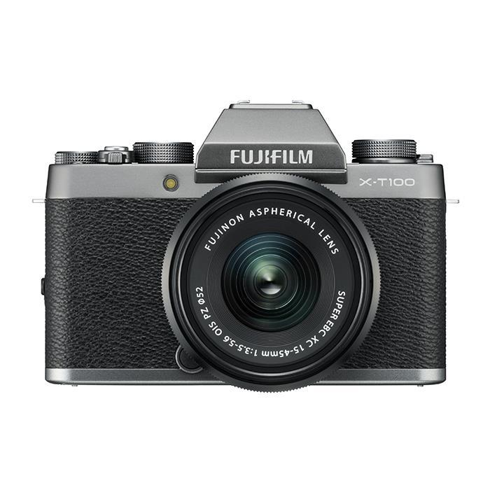 《新品》 FUJIFILM (フジフイルム) X-T100 レンズキット ダークシルバー[ ミラーレス一眼カメラ   デジタル一眼カメラ   デジタルカメラ ] 【KK9N0D18P】