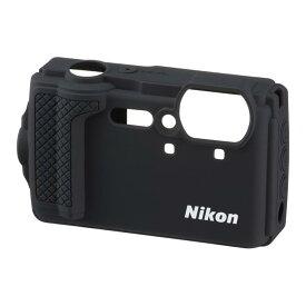 《新品アクセサリー》 Nikon (ニコン) シリコンジャケット CF-CP3 ブラック〔対応機種: W300〕【KK9N0D18P】 [ カメラケース ]
