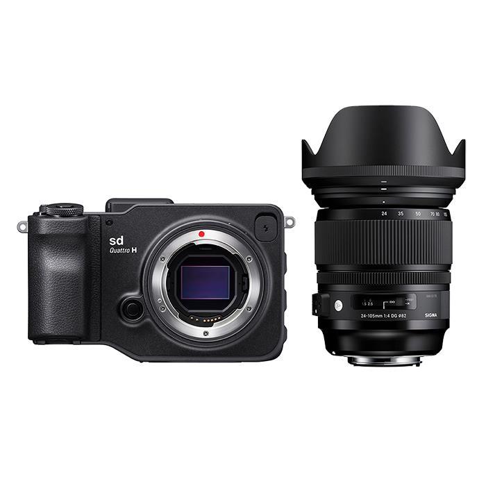 《新品》 SIGMA (シグマ) sd Quattro H A 24-105mm F4 DG OS HSM レンズキット[ ミラーレス一眼カメラ   デジタル一眼カメラ   デジタルカメラ ] 【KK9N0D18P】