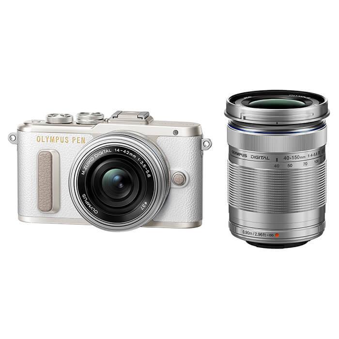《新品》 OLYMPUS(オリンパス) PEN E-PL8 EZダブルズームキット ホワイト[ ミラーレス一眼カメラ | デジタル一眼カメラ | デジタルカメラ ]【KK9N0D18P】