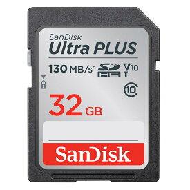 《新品アクセサリー》 SanDisk (サンディスク) UltraPLUS SDHCカード UHS-I 32GB SDSDUW3-032G-JNJIN3661V02701【KK9N0D18P】