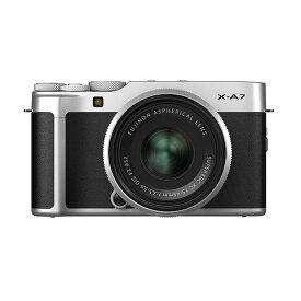 《新品》 FUJIFILM (フジフイルム) X-A7 レンズキット シルバー [ ミラーレス一眼カメラ   デジタル一眼カメラ   デジタルカメラ ]【KK9N0D18P】