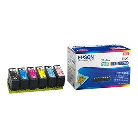 《新品》 EPSON (エプソン) インクカートリッジ カメKAM-6CL-M 6色パック(ブラックのみ増量)【KK9N0D18P】
