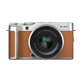《新品》 FUJIFILM (フジフイルム) X-A7 レンズキット キャメル [ ミラーレス一眼カメラ   デジタル一眼カメラ   デジタルカメラ ]【KK9N0D18P】
