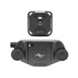 《新品アクセサリー》 peak design (ピークデザイン) キャプチャーカメラクリップ V3 スタンダードプレート付き ブラック 【KK9N0D18P】