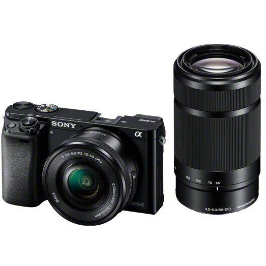 《新品》 SONY(ソニー) α6000ダブルズームレンズキット ILCE-6000Y B ブラック 【¥10,000-キャッシュバック対象】[ ミラーレス一眼カメラ | デジタル一眼カメラ | デジタルカメラ ]【KK9N0D18P】