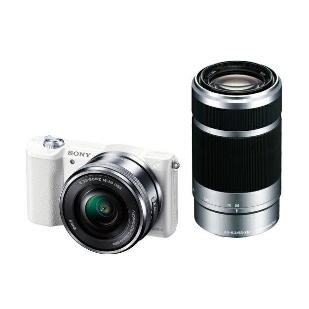 《新品》 SONY(ソニー) α5100ダブルズームレンズキット ILCE-5100Y ホワイト [ ミラーレス一眼カメラ | デジタル一眼カメラ | デジタルカメラ ]【KK9N0D18P】