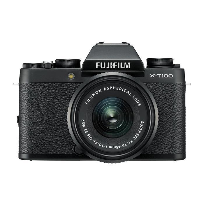 《新品》 FUJIFILM (フジフイルム) X-T100 レンズキット ブラック[ ミラーレス一眼カメラ   デジタル一眼カメラ   デジタルカメラ ] 【KK9N0D18P】