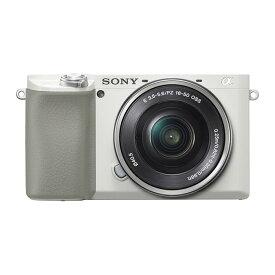 《新品》 SONY (ソニー) α6100 パワーズームレンズキット ILCE-6100L W ホワイト 【¥2,500-キャッシュバック対象】[ ミラーレス一眼カメラ | デジタル一眼カメラ | デジタルカメラ ] 【KK9N0D18P】