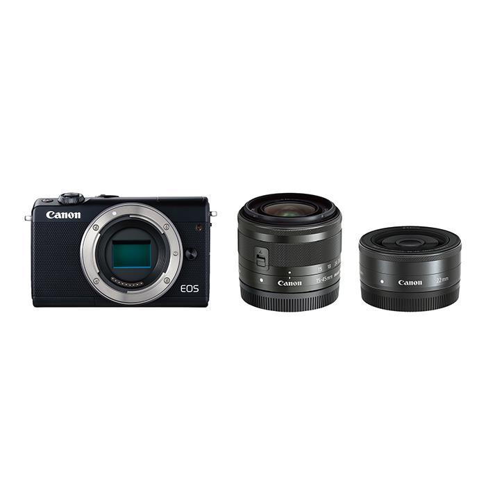 《新品》 Canon (キヤノン) EOS M100 ダブルレンズキット ブラック [ ミラーレス一眼カメラ | デジタル一眼カメラ | デジタルカメラ ] 【KK9N0D18P】