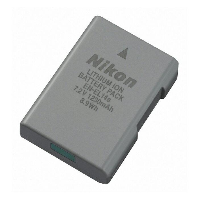 《新品アクセサリー》 Nikon(ニコン) リチャージャブルバッテリー EN-EL14a (対応機種 :Df、D5500、D5300、D5200、D5100、D3300、D3200、D3100、COOLPIX P7800、COOLPIX P7700、対応アクセサリー :バッテリーチャージャー MH-24)【KK9N0D18P】
